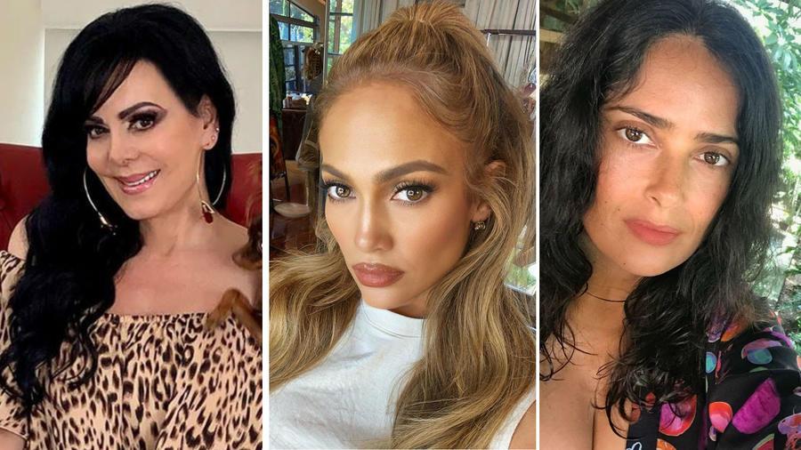 Maribel Guardia, Jennifer Lopez y Salma Hayek