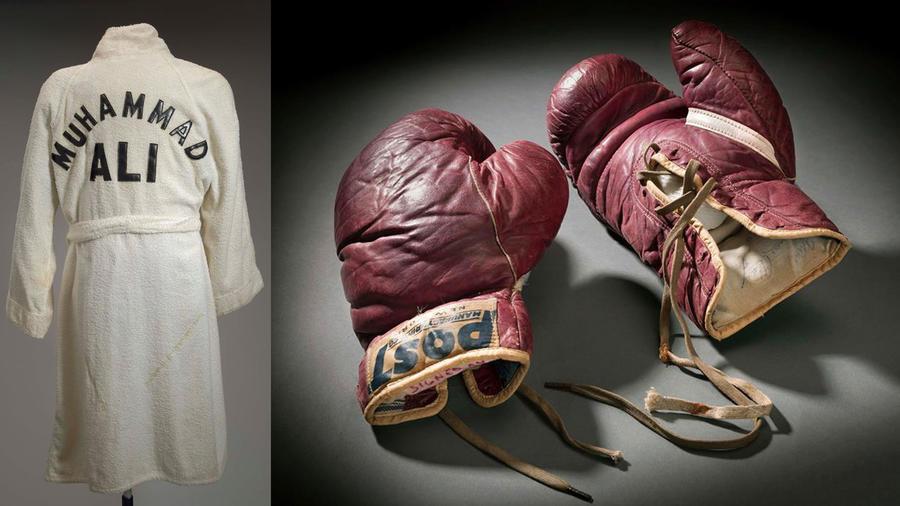Guantes y bata de Muhammad Ali