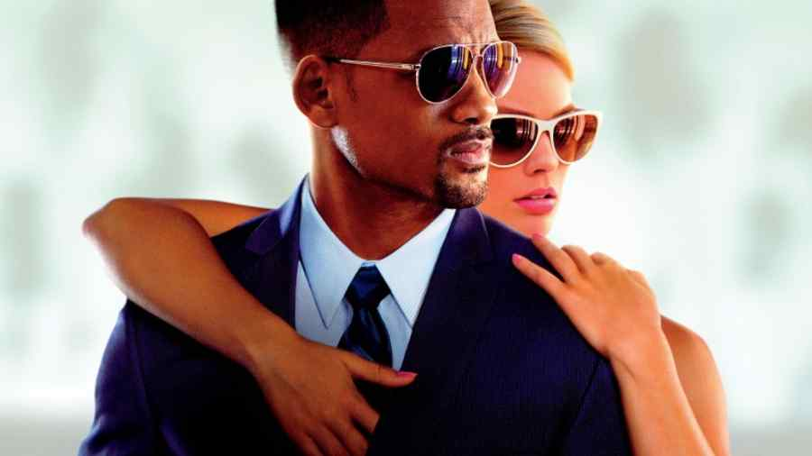 "Póster de la película 'Focus"" con Will Smith y Margot Robbie"
