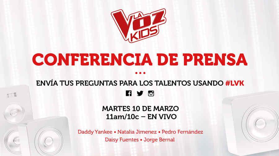 Conferencia De Prensa La Voz Kids