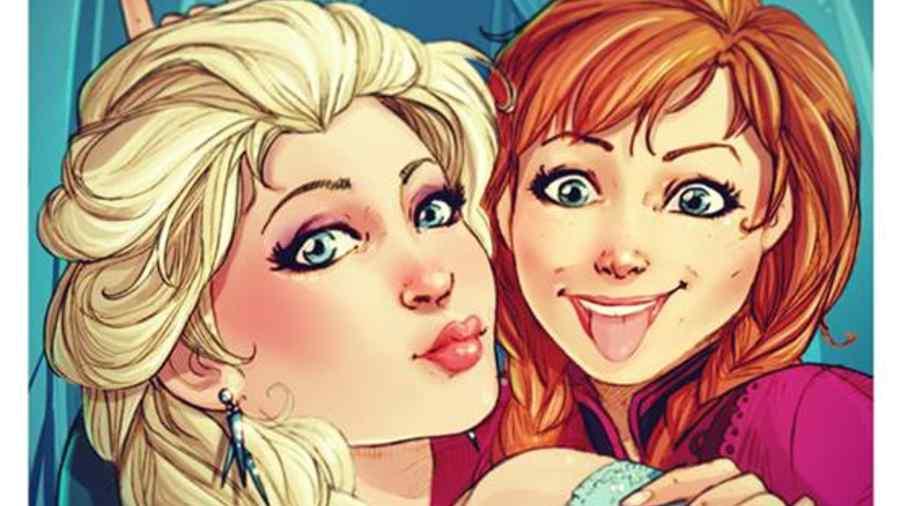 Si Elsa y Anna tuvieran Instagram