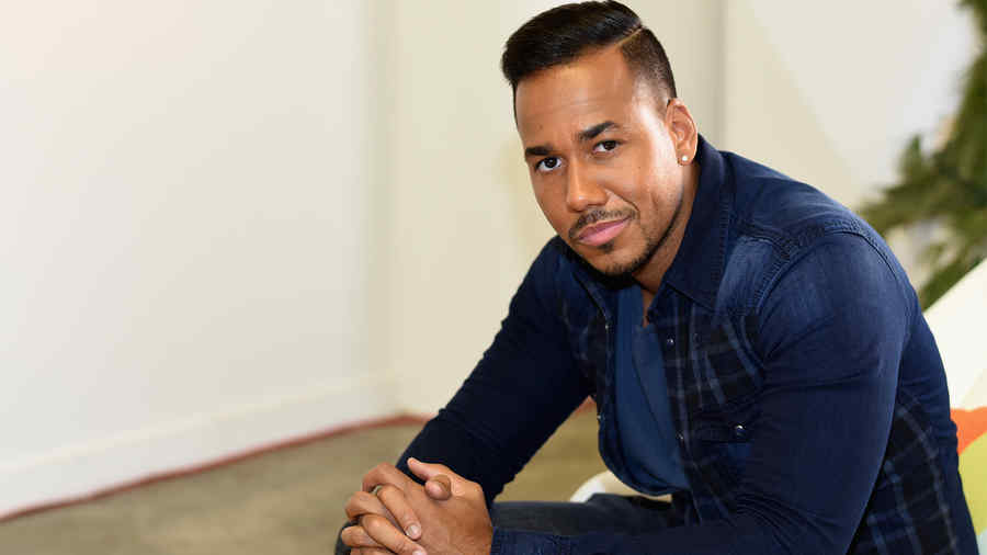 Behind The Scenes Romeo Santos on set of Dr Pepper Photo Shoot