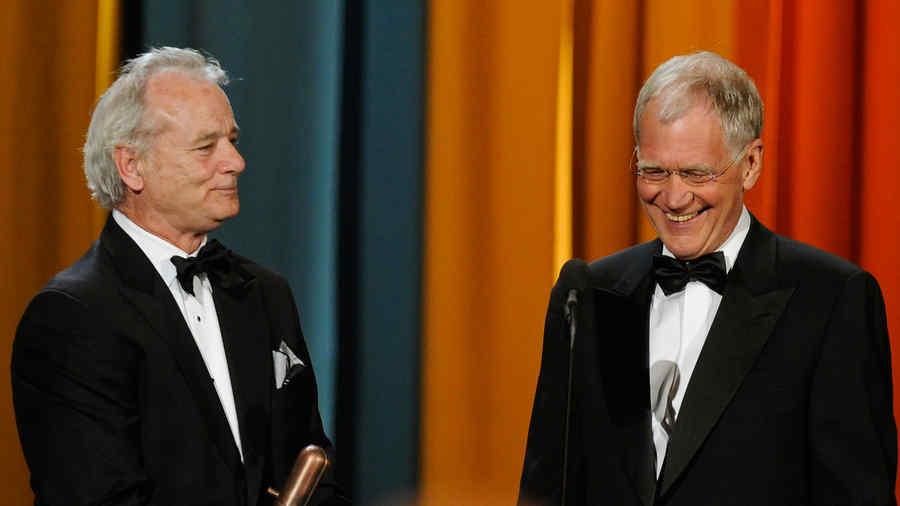 Bill Murray and David Letterman