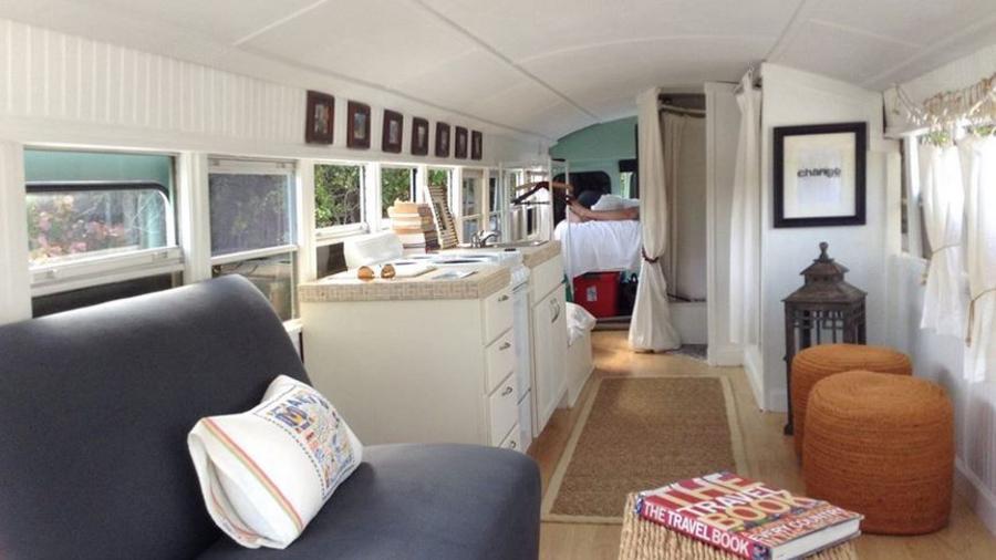 Autobús convertido en casa rodante