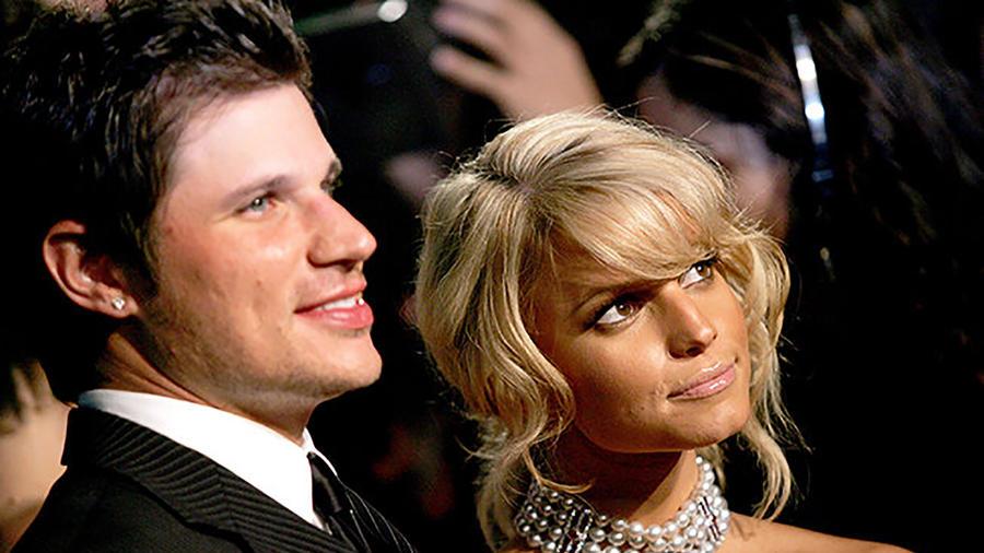 Jessica Simpson y Nick Lachey en Los Angeles 2005