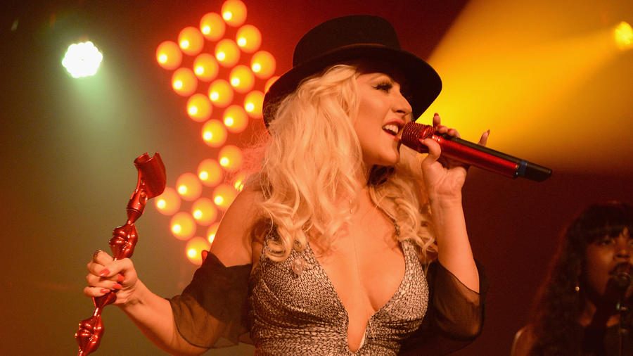 Christina Aguilera se presentó en Hamptons 2015.