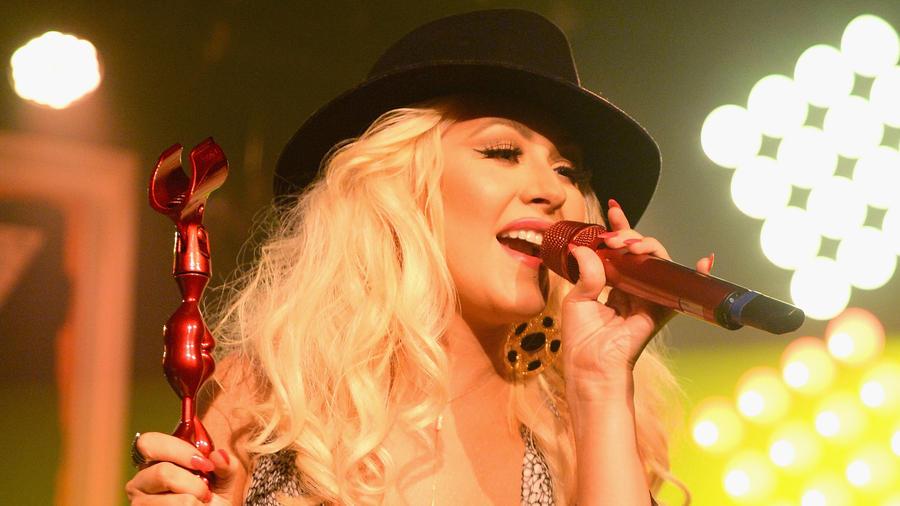 Christina Aguilera en un evento en 2015