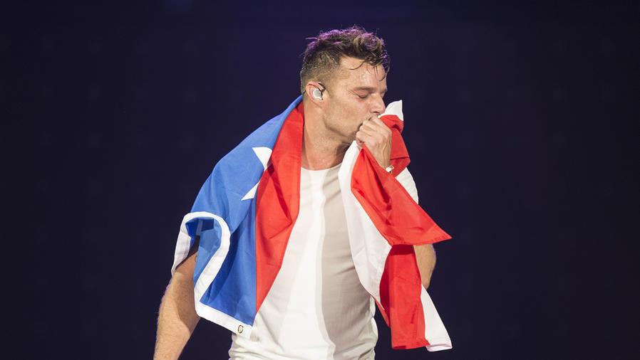 Ricky Martin durante el One World Tour 2015