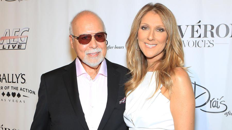 Celine Dion y Rene Angelil en 2013