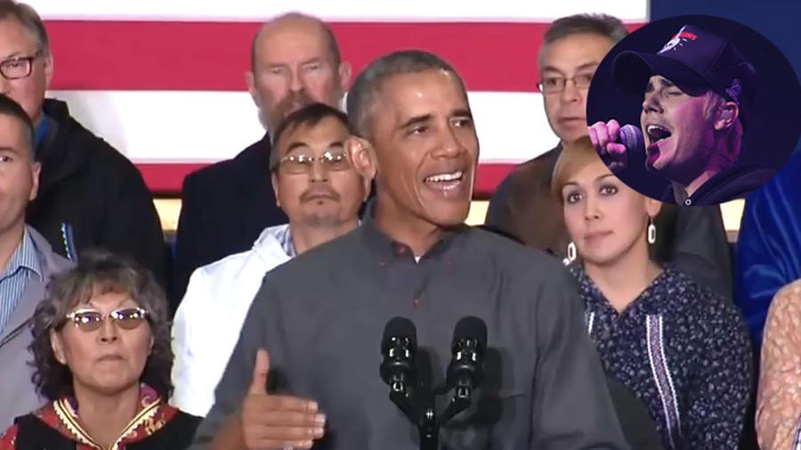 Barack Obama y Justin Bieber