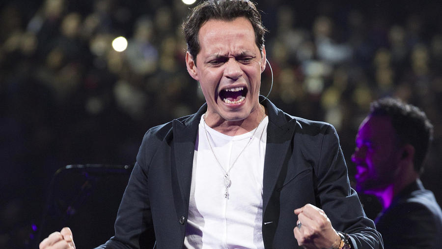 Marc Anthony durante su concierto en Madison Square Garden 2016