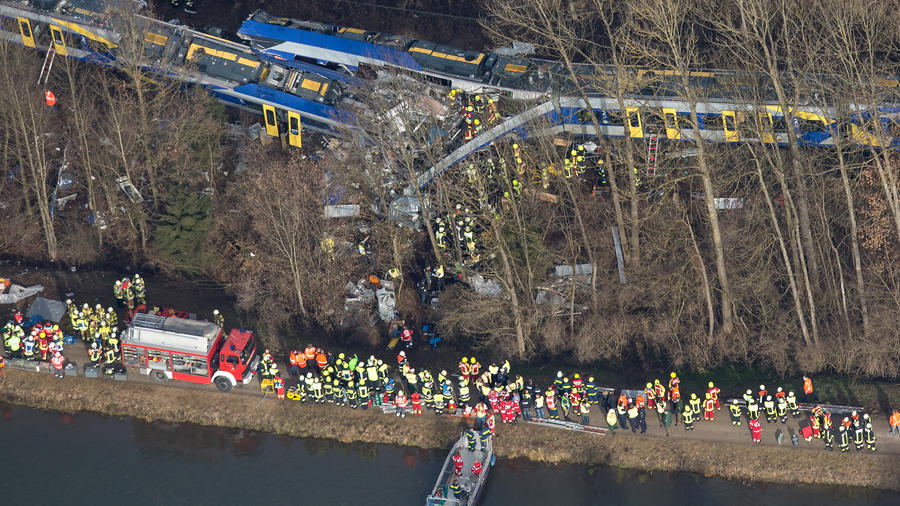 accidente de trenes alemania
