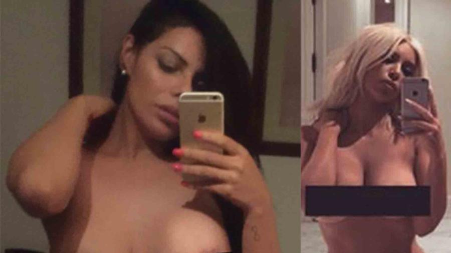 Suzy Cortez imita el desnudo de Kim Kardashian
