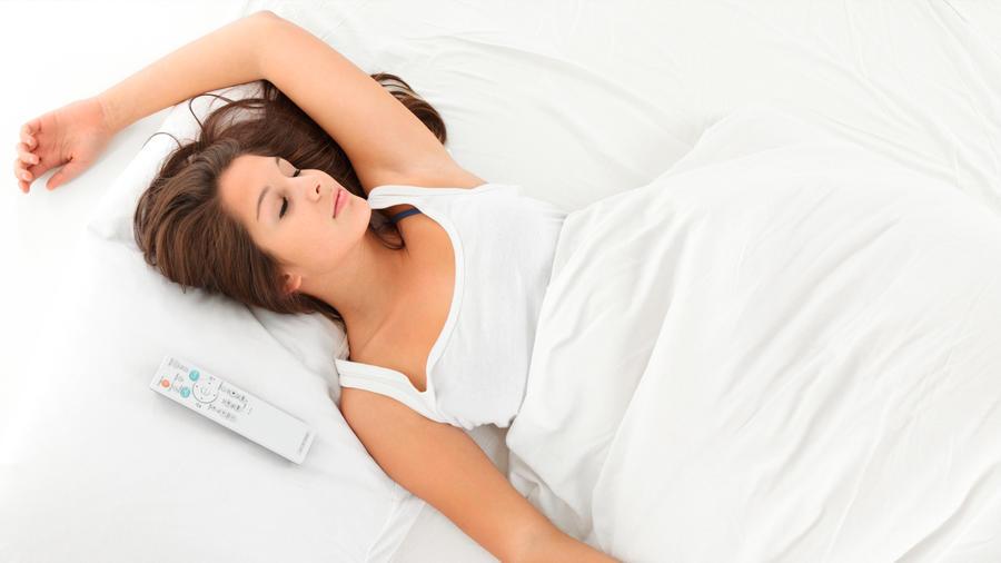Mujer duerme de día