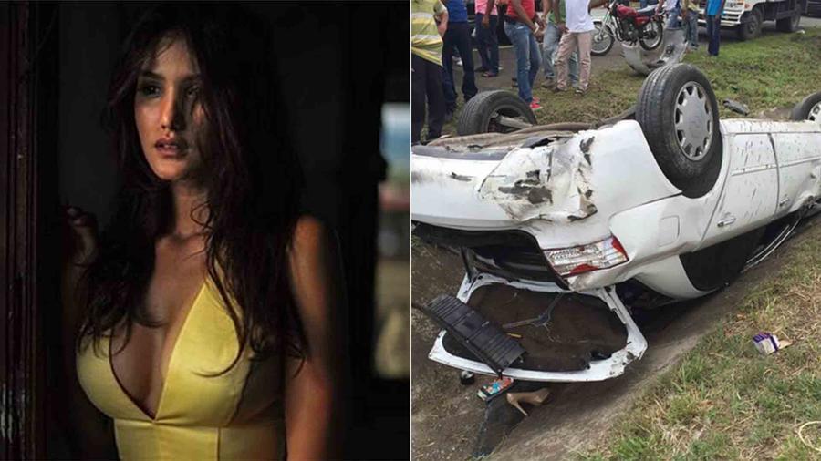 Kimberly Castillo sufrió accidente