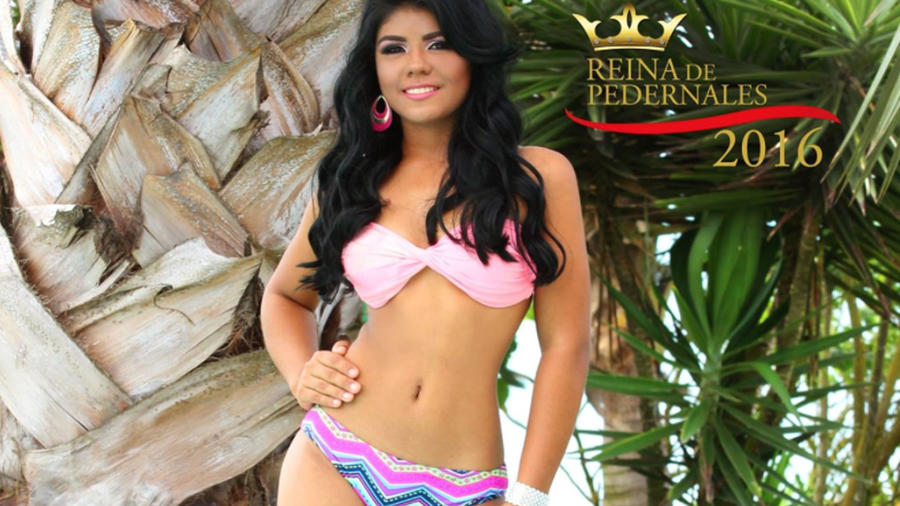 Karla Nicolle Espinoza Valencia candidata de belleza del cantón Pedernales