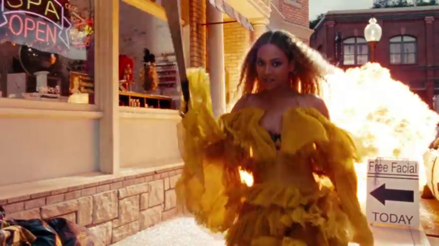 Foto del promocional de documental de Beyonce en HBO