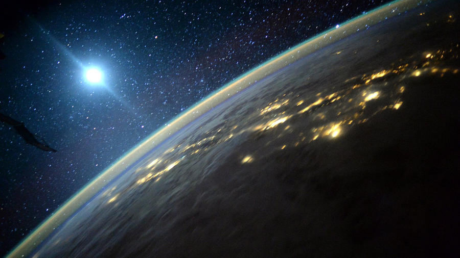 Foto de La Tierra tomada desde la Estación Espacial Internacional