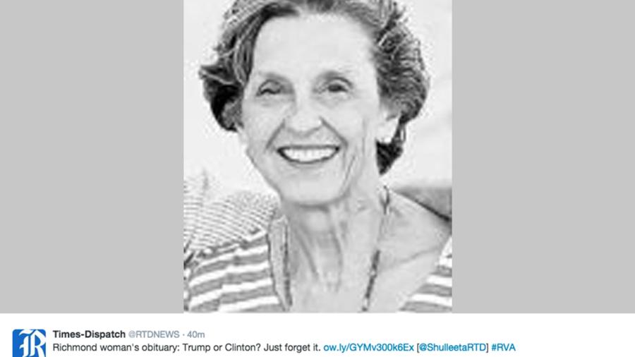 Obituario mujer trump hillary