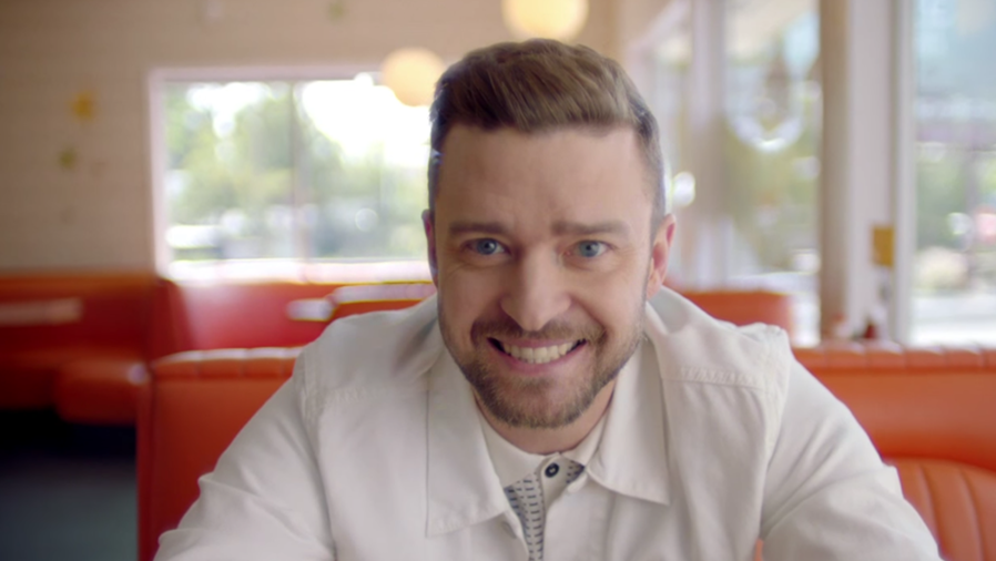 Justin Timberlake en el video musical Can't stop the feeling