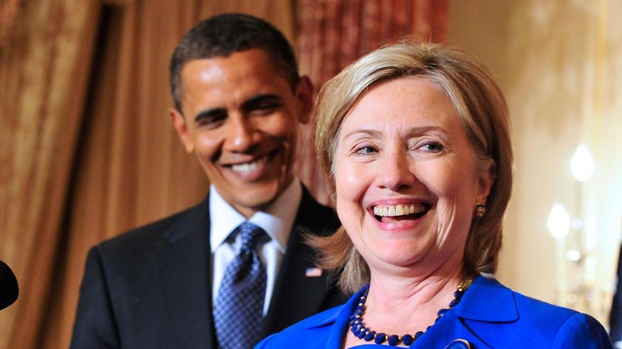 Obama y Clinton