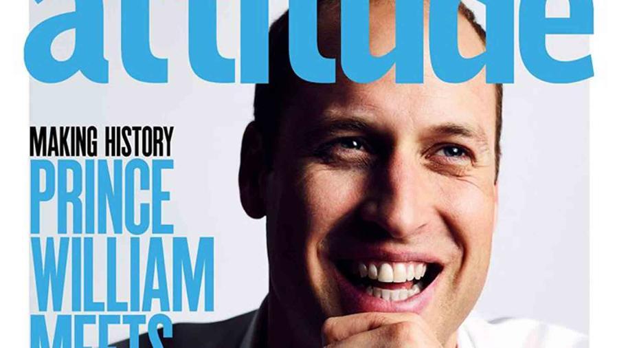 Príncipe William en la portada de la revista 'Attitude'