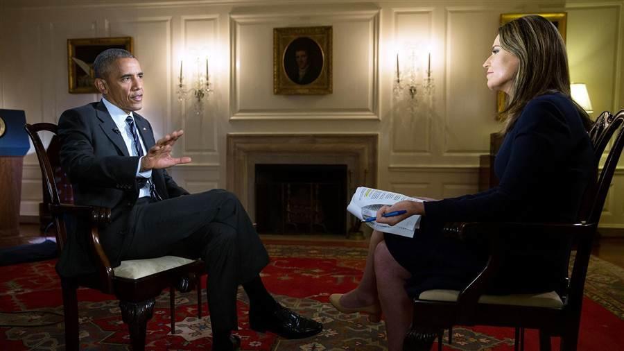 Obama en su entrevista con Savannah Guthrie del programa Today de NBC.