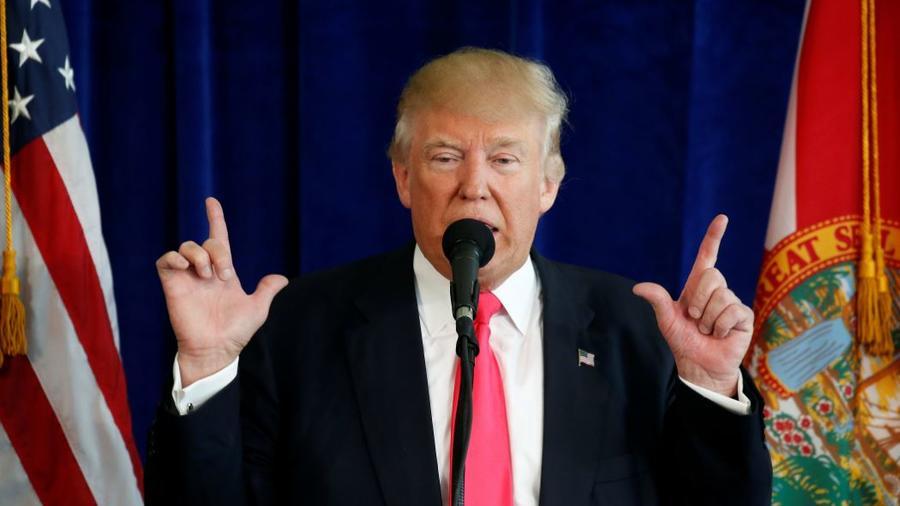 Donald Trump durante su intervención en el Club Doral de Miami-Dade, Florida