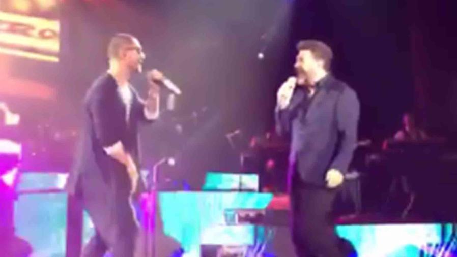 Maluma sorprende a los fans de Emmanuel y Mijares durante su concierto en México