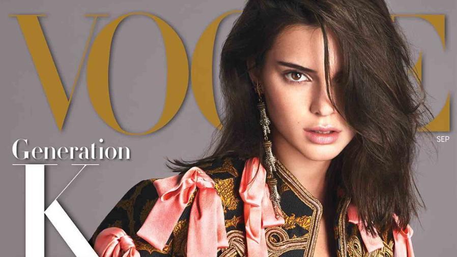Kendall Jenner en la portada de Vogue de septiembre