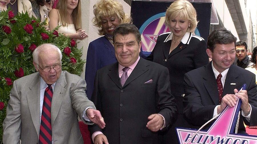 Don Francisco recibiendo estrella en el Paseo de la Fama en Hollywood