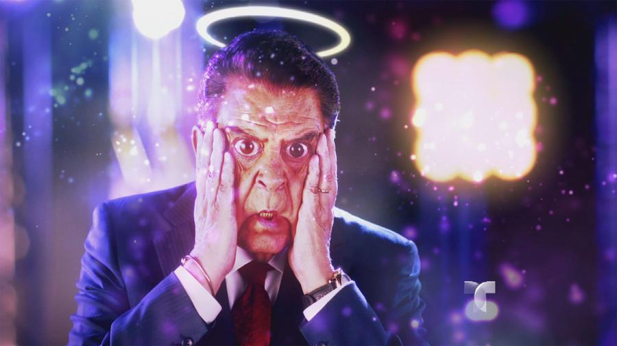 Don Francisco con filtro de angel