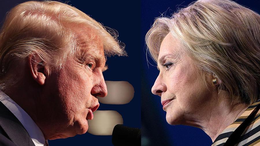 Donald Trump se enfrenta a Hillary Clinton en debate presidencial