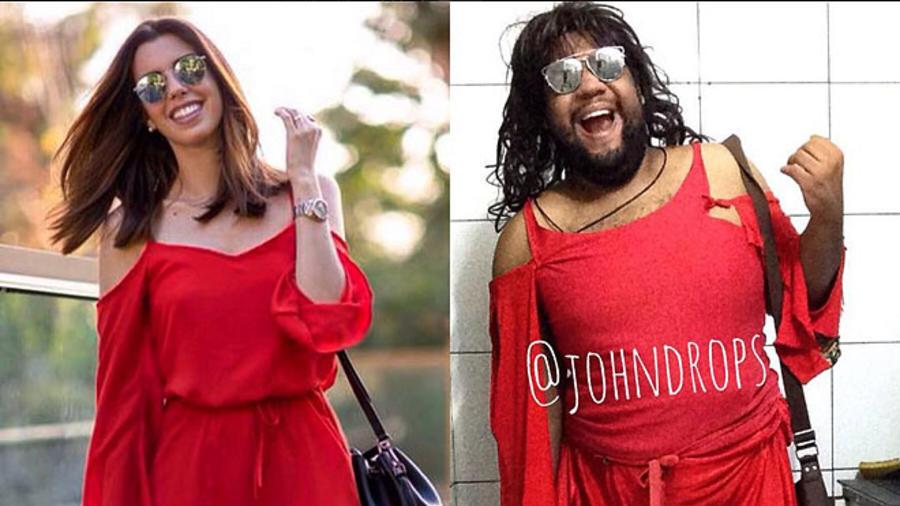 Joao Paulo imitando el look de Camila Coutinho