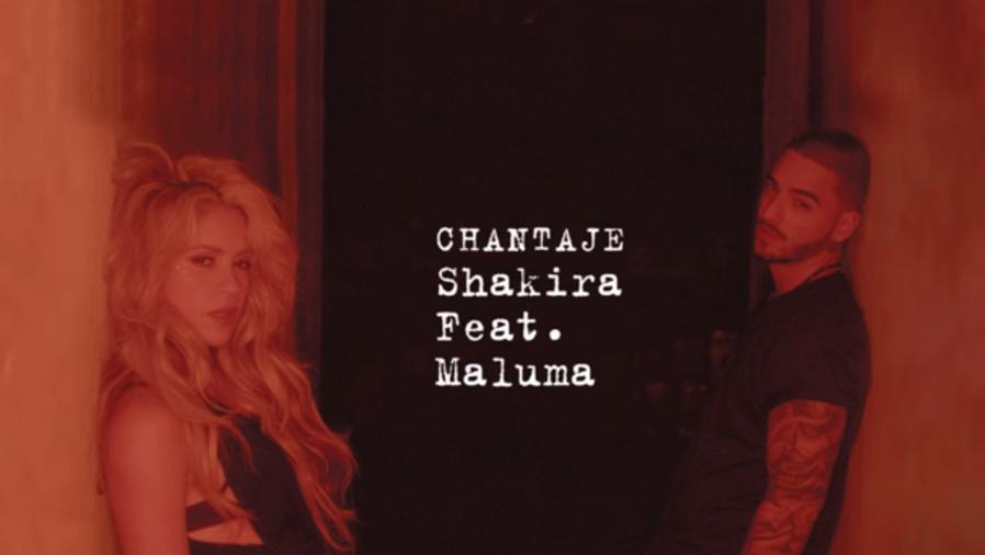 "Arte del sencillo ""Chantaje"" de Shakira feat. Maluma"