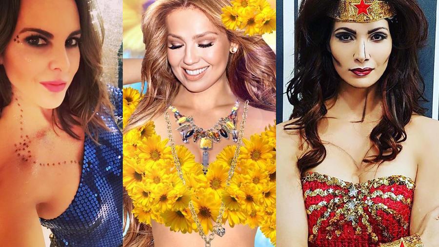 Halloween actrices, Cynthia Olavarría, Thalía, Kate del castillo