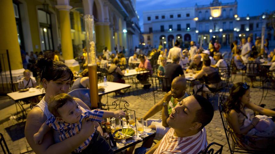 Familia en La Habana