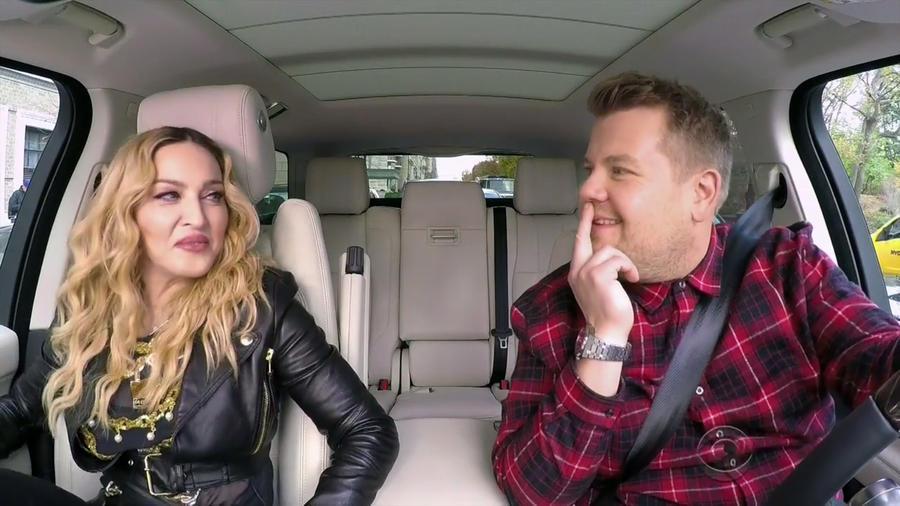 """Madona & James Corden en el """"Carpool Karaoke"""""""