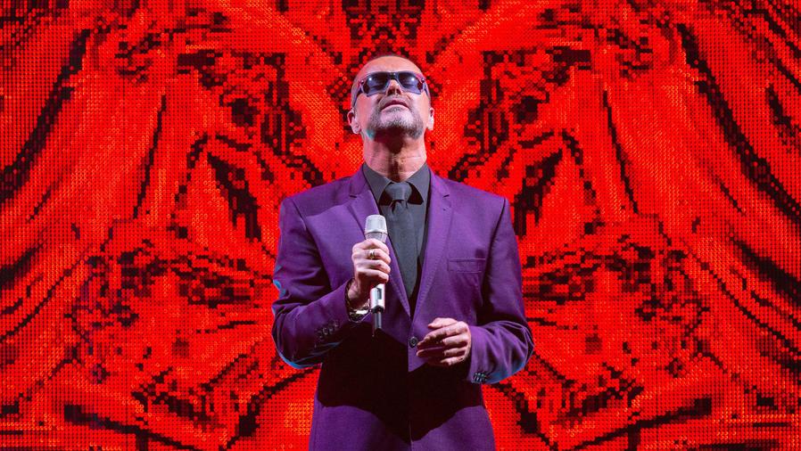 George Michael presentándose en Londres