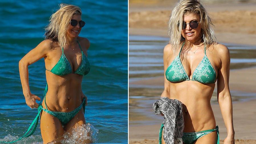 Fergie en la playa