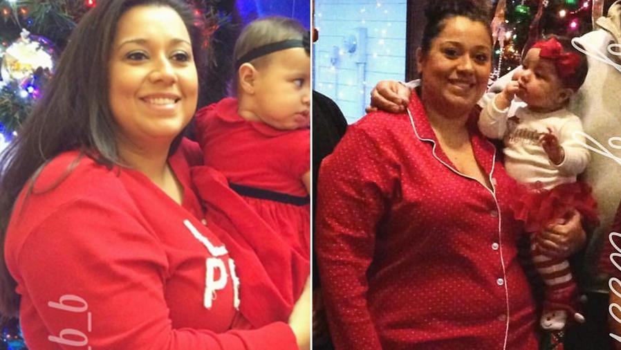 Antes y después de perder 103 libras