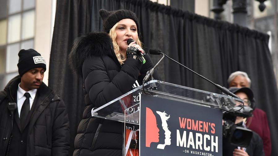 Madonna en su discurso durante Women's March en Washington