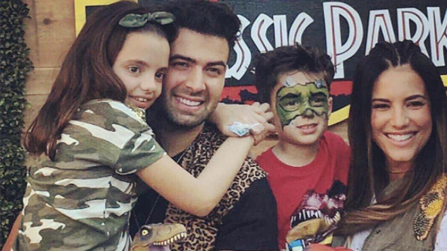 Gaby Espino, Jencarlos Canela, junto a sus hijos Oriana y Nickolas