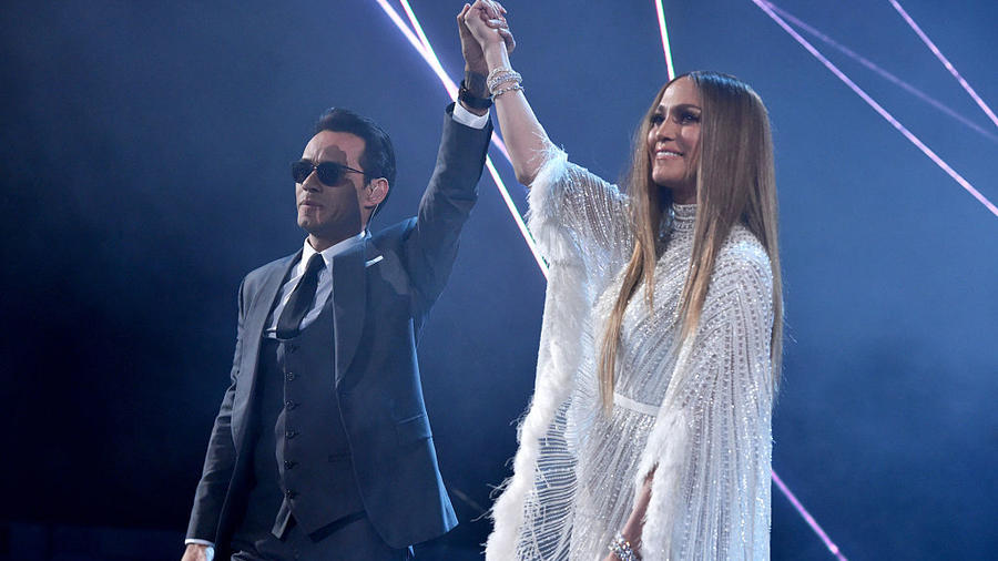 Marc Anthony y  Jennifer Lopez en los Premios Latin Grammy