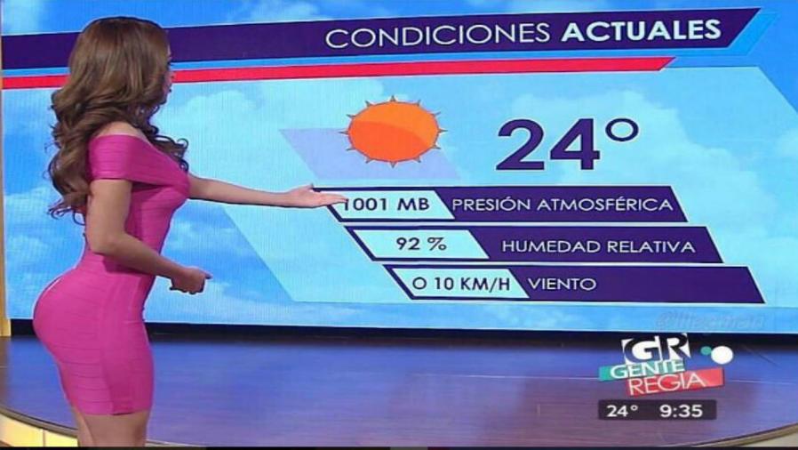 Yanet García presenta el clima
