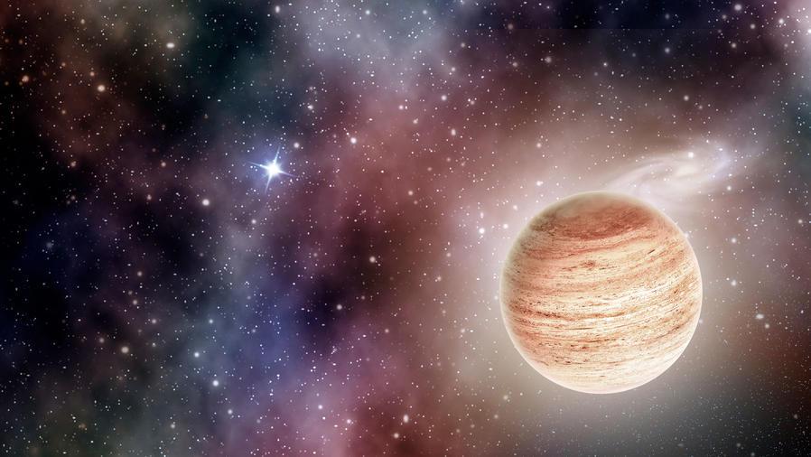 Planeta en el espacio