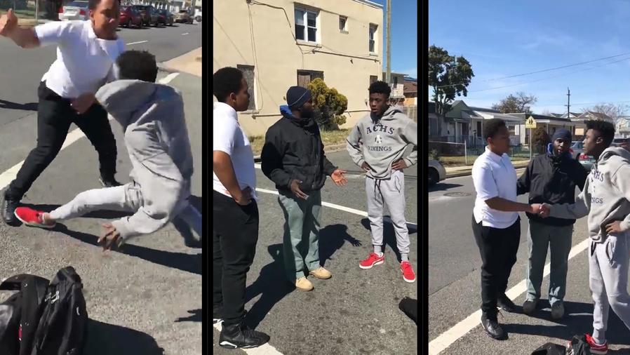 Hombre  dio una lección a las redes tras parar una pelea callejera