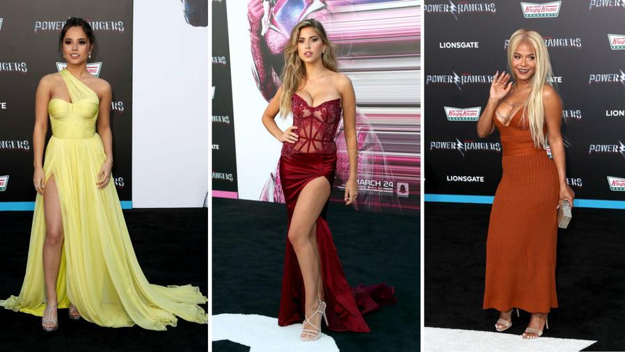 """Becky G, Kara del Toro y Christina Milian en la premiere de la película """"Power Rangers"""""""