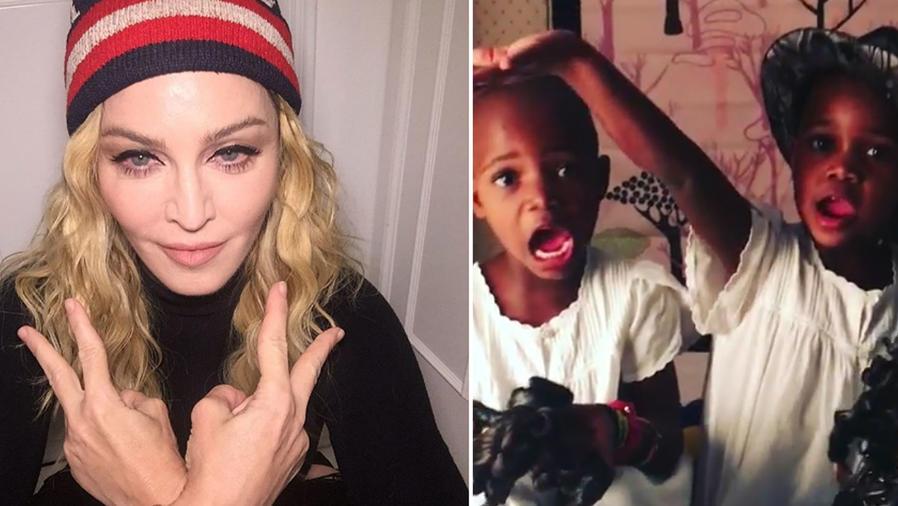 Madonna muestra a sus hijas jugando con Barbies