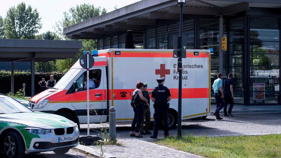 Ambulancia en el tiroteo de Munich
